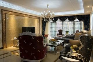 优雅古典欧式客厅效果图