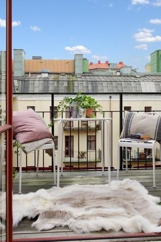 北欧家居阳台简易布置图