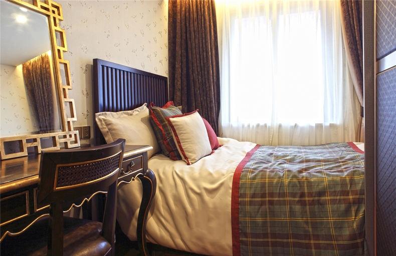 古典中式家居 卧室床头效果图