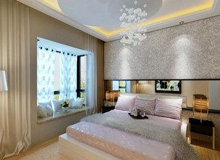 多彩浪漫美式混搭风卧室飘窗图片