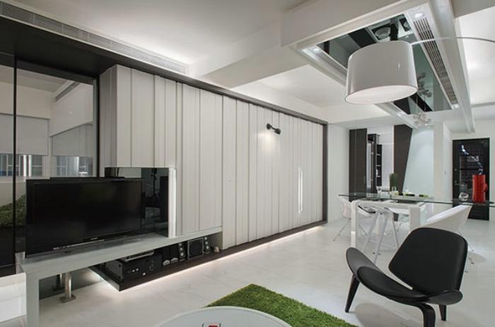 黑白现代简日式 公寓隔断效果图