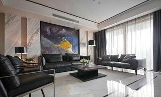黑白时尚现代客厅家装设计