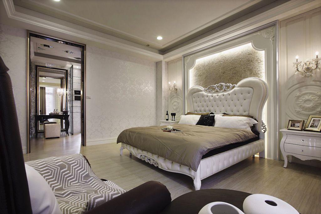 高贵欧式风卧室白色家装设计