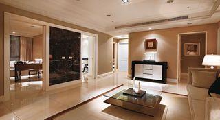 咖色系现代简欧风四居公寓设计