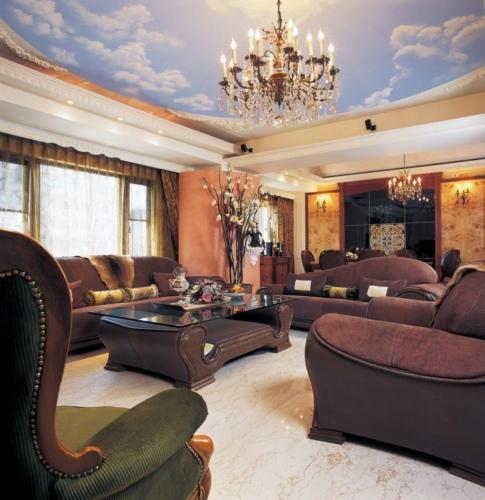 欧式风格客厅吊灯装饰