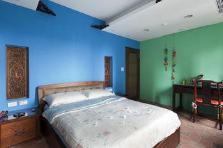 古朴中式三室两厅效果图欣赏