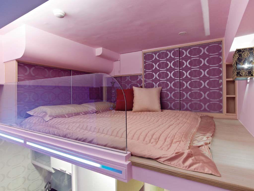 优雅现代小户型复式卧室设计