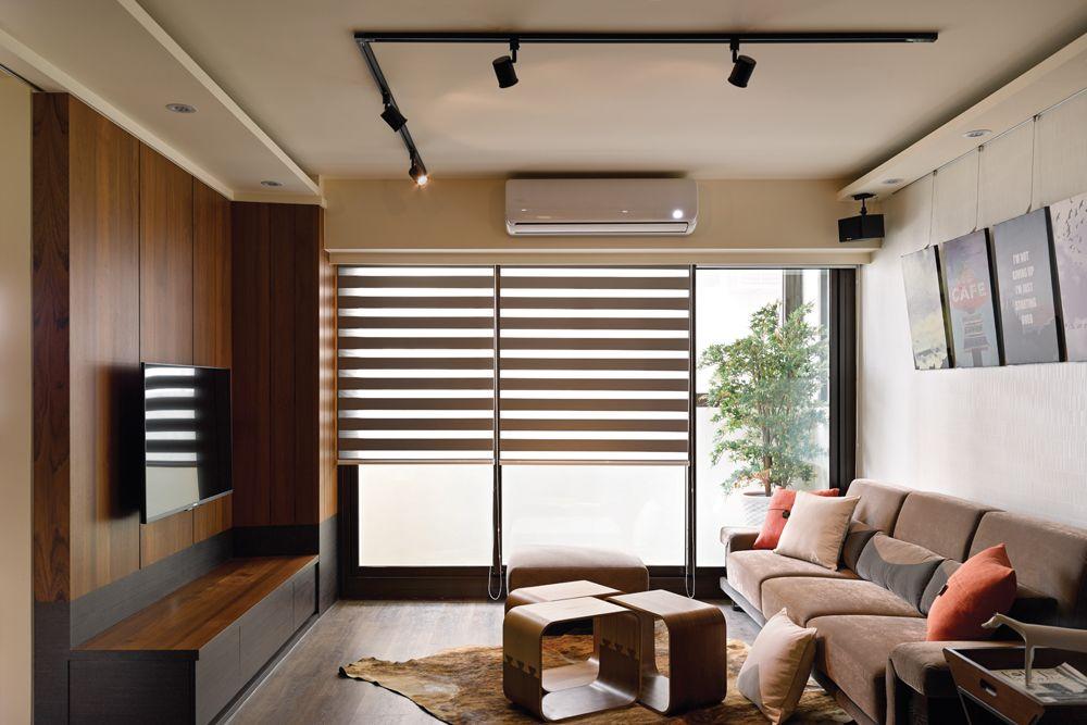 中式风格客厅百叶窗效果图