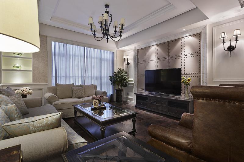 时尚精致美式客厅装饰大全