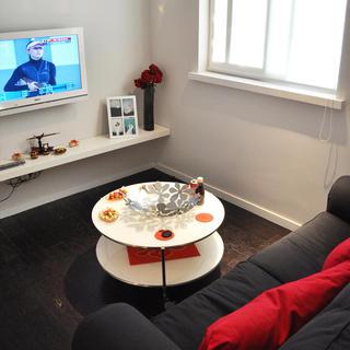 30平休闲简约风 单身公寓效果图