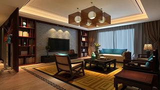豪华典雅中式别墅样板房装潢欣赏
