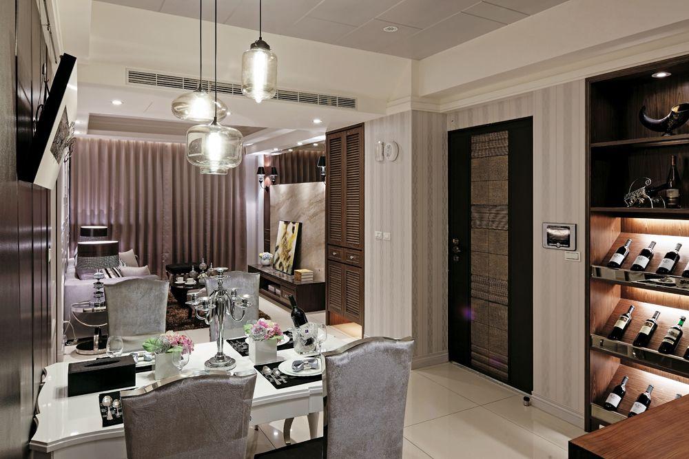 现代简约家居餐厅酒柜设计