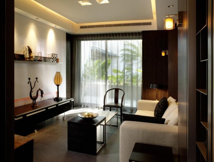 沉稳简约新中式公寓室内设计