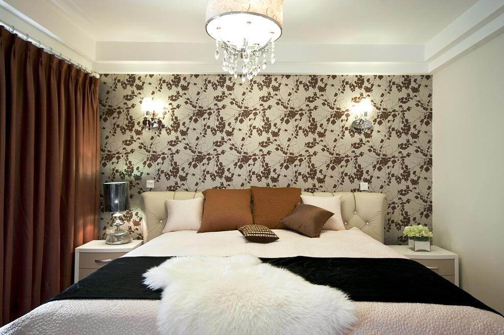 简约设计卧室壁纸效果图