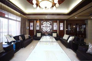 现代中式装修设计别墅室内图