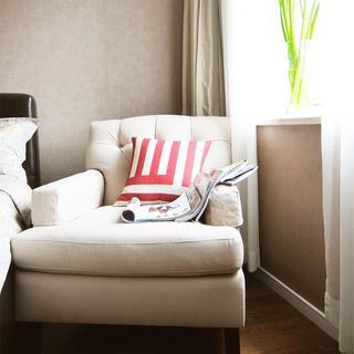 休闲美式单人布艺沙发效果图