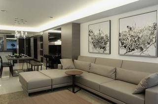 时尚黑白灰 现代都市风情公寓设计