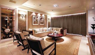 精美简欧风客厅沙发背景墙欣赏