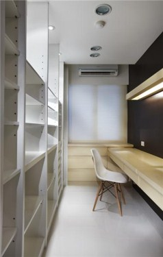家装书房简约精装效果图