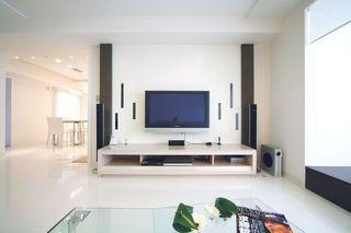 家装客厅简约电视背景墙装饰