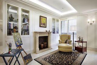 淡雅简洁美式风格 三室两厅装潢图