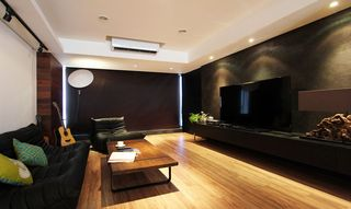 古朴美式风格90平公寓效果图