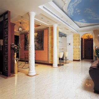 别墅室内欧式罗马柱装饰
