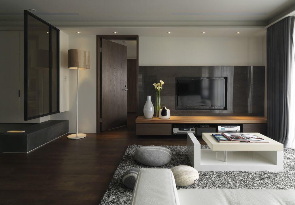现代时尚设计 客厅电视墙效果图