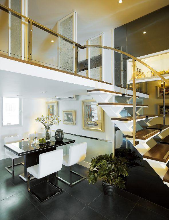 简约现代复式楼梯效果图