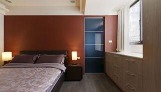 现代简约风卧室 巧克力色背景墙欣赏