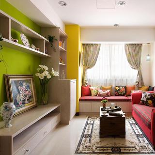 精美田园风格一居客厅装修设计图