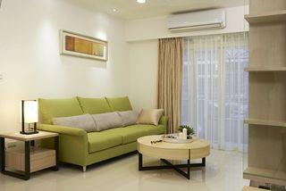 清爽宜家风客厅布艺沙发设计