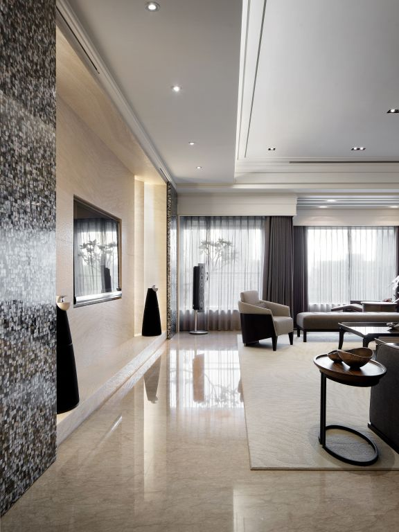 时尚现代客厅电视墙设计