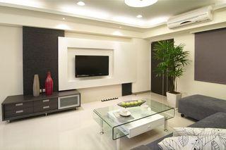 黑白简约现代风 二居室效果图