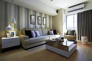 高端现代北欧风格公寓客厅装饰图