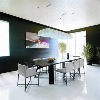 黑白时尚现代家装餐厅案例图