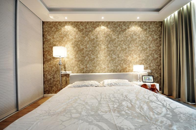 时尚简约卧室壁纸效果图