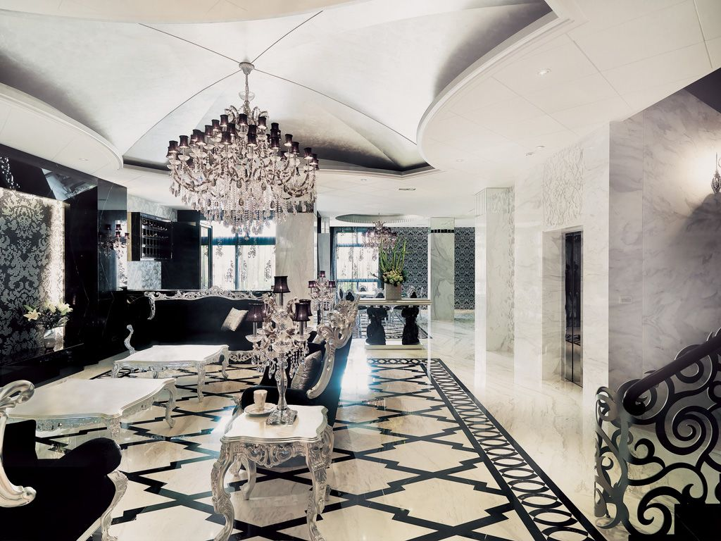 黑色新古典欧式风格 别墅装饰大全