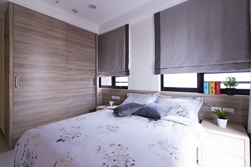 现代家装卧室木质衣柜效果图