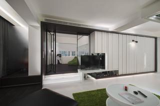 现代简约三居室装修设计图