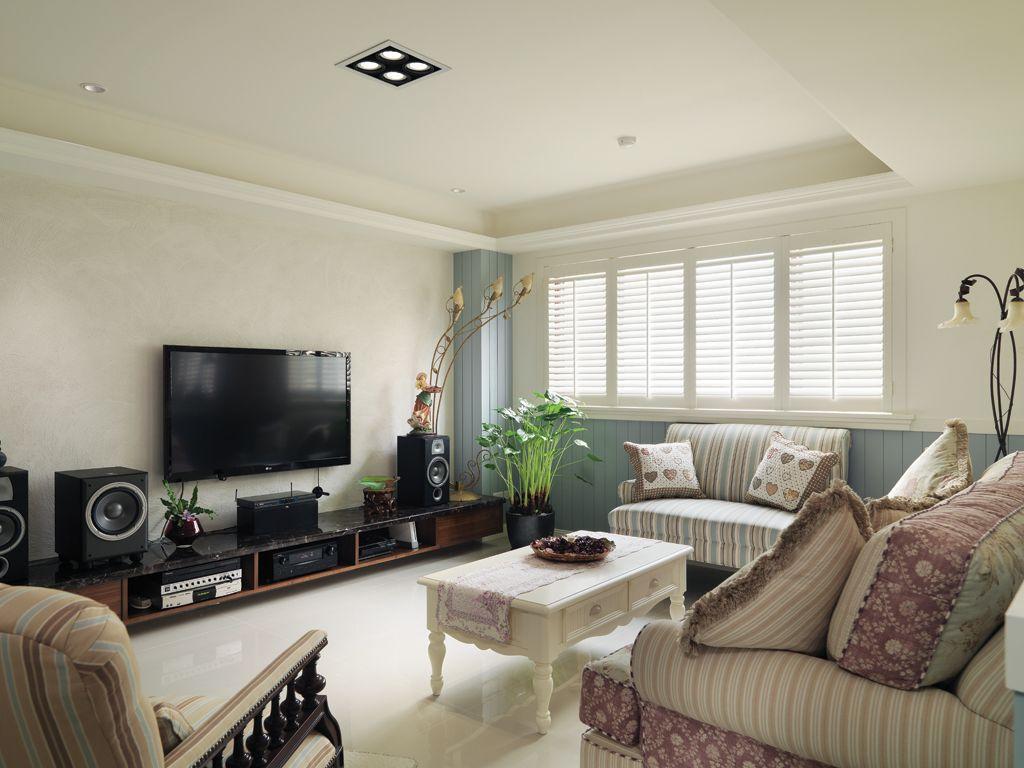 家装客厅美式田园风装饰图