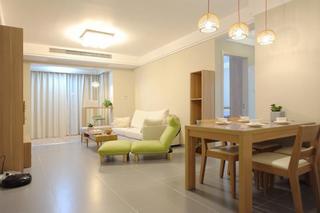 58平米温馨原木日式公寓效果图
