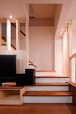 实木简约日式风复式装修图