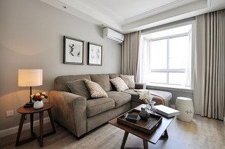 简约美式设计客厅家装效果图