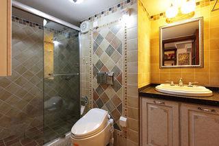 乡村美式卫生间 淋浴房隔断设计