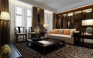 现代中式风格客厅家装效果图
