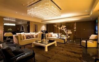 奢华现代新古典 咖色系别墅设计