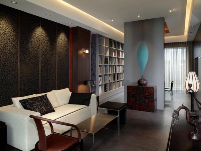 古典新中式风格 皮艺背景墙效果图