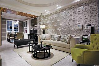 精美北欧风情客厅 沙发背景墙欣赏