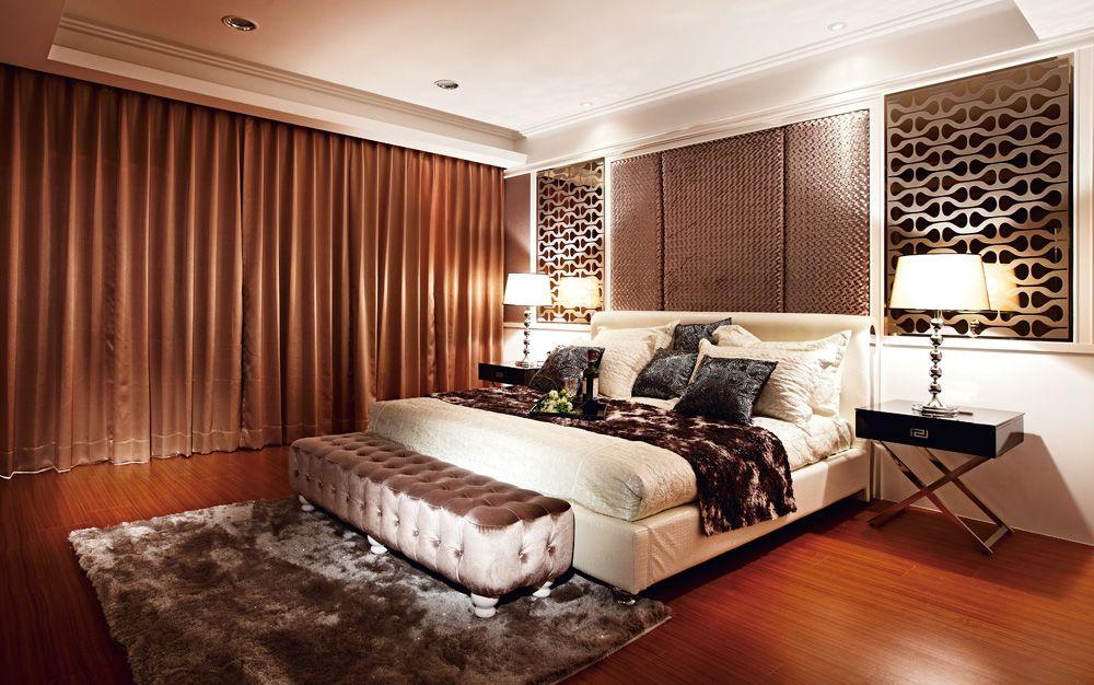 华丽古典美式 暖咖色卧室图片大全
